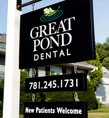 Great Pond Dental outdoor sign