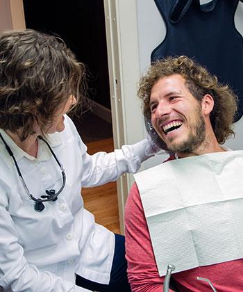 Dr. Komarovskaya with patient