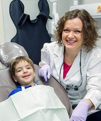 Dr. Komarovskaya with patient